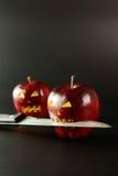 схематическое яблока плохое стоковые фото
