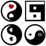 схематическое yinyang символов Стоковая Фотография RF