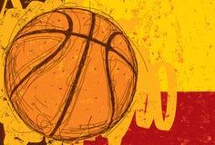 Схематичная предпосылка баскетбола Стоковое Изображение