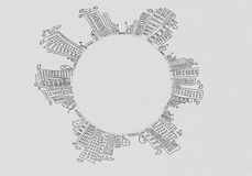 Схематичная предпосылка Стоковые Фотографии RF