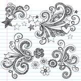 схематичное школы doodles задней части установленное к вектору Стоковые Изображения RF