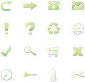 Схематичные значки сети бесплатная иллюстрация