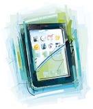 Схематичный планшет бесплатная иллюстрация