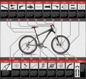 Схема горного велосипеда Стоковое Изображение