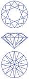схема графика диаманта Стоковое Фото