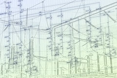 Схема инженерства оборудования автоматизации Стоковое фото RF