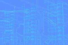 Схема инженерства оборудования автоматизации стоковое изображение rf