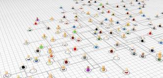схема плана соединения толпы шаржа иллюстрация штока