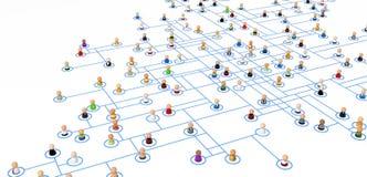 схема соединения толпы шаржа Стоковое Изображение RF