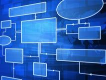 схема технологического процесса футуристическая Стоковые Изображения RF