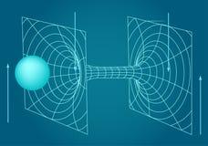 Схема физики, химии и священной геометрии Стоковое Изображение