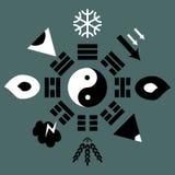 Схема Bagua с trigrams бесплатная иллюстрация