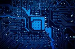 схема eps цепи доски 10 предпосылок голубая Стоковое фото RF