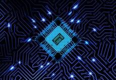 схема eps цепи доски 10 предпосылок голубая Стоковое Фото