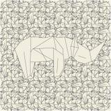 схемы origami цветов светлые Стоковые Изображения