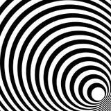 Сходиться, излучая выравнивает абстрактную monochrome картину в squar Стоковые Изображения