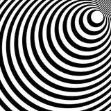 Сходиться, излучая выравнивает абстрактную monochrome картину в squar Стоковое Фото