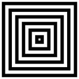 Сходиться, излучая квадраты иллюстрация вектора