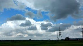 Сход облаков перед дождем Стоковые Фото