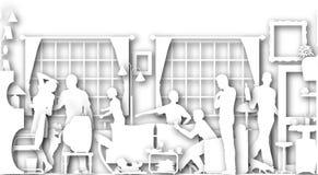 сход семьи Стоковое Изображение RF