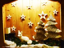 Сценарий звезд и рождества Стоковая Фотография