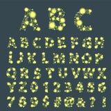 Сценарий пальмиры алфавита космоса шрифта с иллюстрацией вектора минимального дизайна типографской современной графической Стоковое Изображение