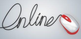 Сценарий руки кабеля и мыши онлайн пишет Бесплатная Иллюстрация