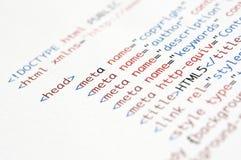 Сценарий HTML Стоковые Фотографии RF