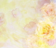 Сценарная абстрактная флористическая предпосылка с розами Стоковые Фотографии RF