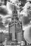 Сценарная башня Spasskaya Москвы Кремля, России Стоковая Фотография