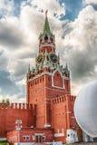 Сценарная башня Spasskaya Москвы Кремля, России Стоковые Изображения RF