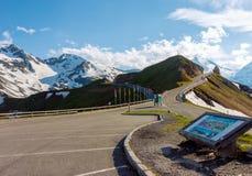 Сценарная дорога Grossglockner высокогорная Стоковая Фотография