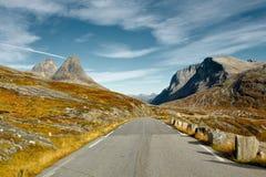 Сценарная дорога Trollstigen в Норвегии Стоковая Фотография