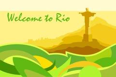 Сценарная открытка Рио Стоковая Фотография