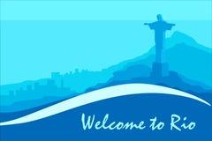 Сценарная открытка Рио Стоковое Изображение