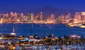 Сценарная панорама Сан-Диего Стоковые Фотографии RF