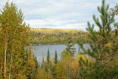 Сценарная перспектива на границе Laurentian - Минесота стоковая фотография