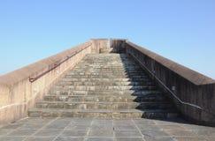 Сценарная точка зрения лестницы против голубого неба Стоковые Изображения