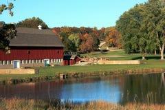 Сценарная ферма в осени Стоковые Изображения RF