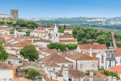 Сценарное визирование лета в Obidos, районе Лейрии, Португалии Стоковые Изображения