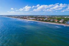 Сценарное воздушное изображение пляжа FL Boynton Стоковые Изображения RF