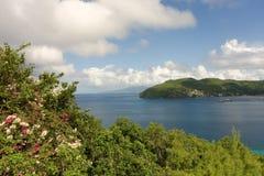 Сценарное изображение Бекии в островах гренадина Стоковое фото RF