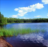 Сценарное озеро почтовый голубь - северо-восточная Минесота стоковое изображение