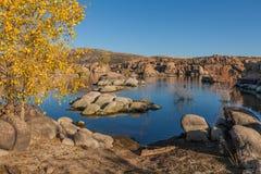 Сценарное озеро Уотсон в осени Стоковое Фото