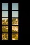 сценарное окно Стоковые Изображения RF