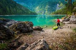 Сценарное путешествие каяка озера Стоковое Фото