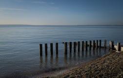Сценарное спокойное море и голубое небо Стоковые Фотографии RF