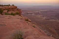 Сценарное Canyonlands Юта Стоковое Изображение