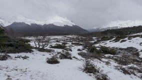Сценарные взгляды озера Esmeralda на Ushuaia, Аргентине, Патагонии стоковая фотография rf