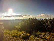 Сценарные взгляды на заходе солнца na górze держателя mitchell стоковые фотографии rf